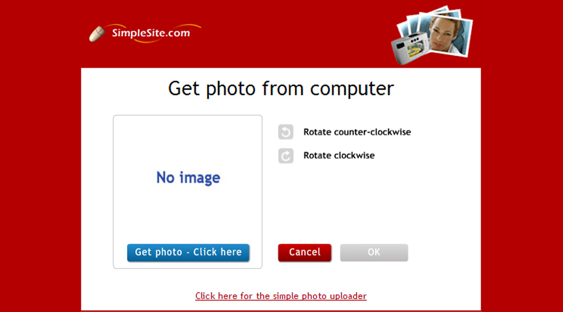 Image Gallery Simple Site