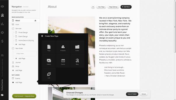 squarespace website builder build a website. Black Bedroom Furniture Sets. Home Design Ideas